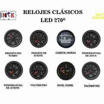 2) RELOJES CLÁSICOS 270º LED