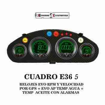 CUADRO BMW E36 RELOJES EVO GPS