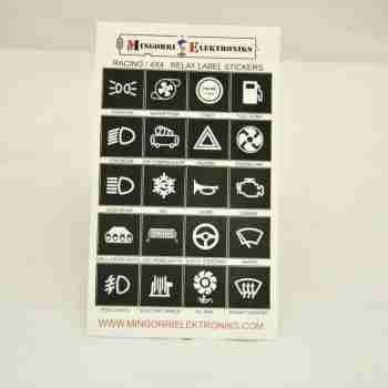 Adhesivos con símbolos para identificar relés.